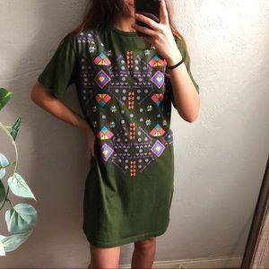 zara aztec t-shirt dress